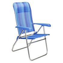 Cadeira De Praia Alta Nautika Modelo Rio Reclinavel