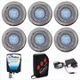 Kit Iluminação Para Piscina 6 Refletores 25 Leds + Comando