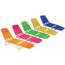 Cadeira Espreguiçadeira Praia Piscina Dobrável