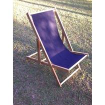 Cadeira Espreguiçadeira De Praia / Cad. De Praia De Madeira