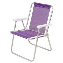 Cadeira De Praia Alta Mor Sannet Lilás Mania Virtual