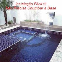 Cascata Naja Para Piscinas Ss Tech Em Aço Inox Boca De 40cm