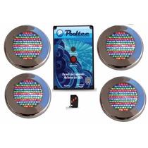 Kit Iluminação Para Piscina 4 Led 65 Inox Rgb 1 Modulo
