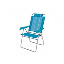Cadeira De Praia Mor Reclinável Boreal Azul Mania Virtual