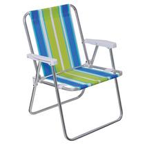 03 Cadeiras Alta Em Aluminio Cores Sortidas