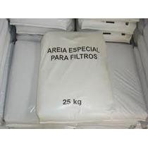 Areia Especial Para Filtro Saco Com 25 Kilos