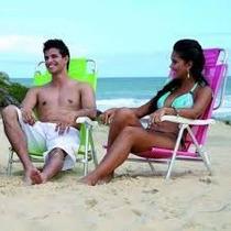Cadeira De Praia De Alumínio Sol De Verão Sortida 2115 Mor