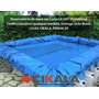 Lona Lago Tanque Criação Peixe Manta Impermeável Rede 6x3m