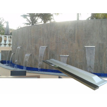 Cascata De 2,00m De Embutir Em Fibra Com Bico Em Aço De Inox
