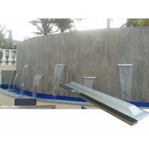 Cascata De 1,40m De Embutir Em Fibra Com Bico Em Aço De Inox