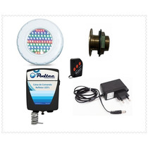 Kit Iluminação Piscina 1 Refletor Abs 65 Leds + Comando