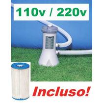 Bomba Filtrante Piscina Intex 2006 Lh + Transformador 220v