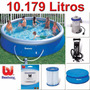 Kit Piscina Inflável Bestway Intex 10.179l + Filtro + Bomba