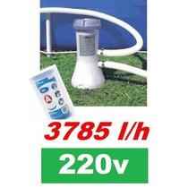 Bomba Filtrante Piscina Intex 3785 L/h 220v Filtro Incluso