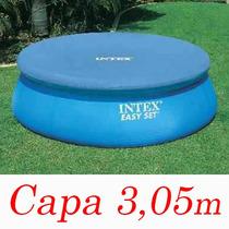 Capa Proteção Intex Piscina 305 Cm Borda Inflável Cobertura
