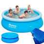 Piscina Inflável 2300l 2,44m X 66cm Bestway + Forro + Capa
