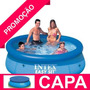 Piscina Inflável Easy Set 3853 Litros Intex + Capa Cobertura