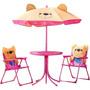 Conjunto Infantil Ursinhos C/ Mesa + Cadeira + Guardasol Mor