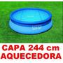 Capa Aquecedora Solar Piscina Intex 244 Cm 2,44 M 2420 L