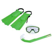 Kit Pacific Mergulho Máscara Nadadeira Respirador - Nautika