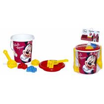 Conjunto Praia Minnie Mouse Disney Original Brinquedo Menina