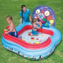 Piscina Inflavel Infantil Mickey Mouse Disney + Bomba Manual