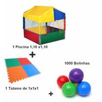 Piscina De Bolinha 1,10x1,10 + Tatames+1000 Bolinhas.fabrica