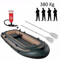 Bote / Barco Inflável Fishman 400 Com Inflador + Remos