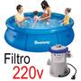 Piscina Inflável 2300 Litros + Filtro 220v - Bestway Intex