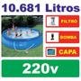 Piscina Intex Inflável 10681 L Capa Filtro 220v Bomba Quick1