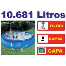 Piscina Intex Inflável 10681 L Capa Filtro 110v Bomba Quick1