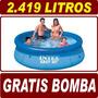 Piscina Inflável Easy Set 2419 Litros Intex + Bomba Brinde