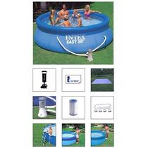 Piscina Intex 6734 Litros Completa Bomba Filtro Escada Forro