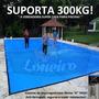 Capa Lona Azul P/ Segurança Criança Piscina Tela 1000 7x4 Mt