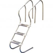 Escada Para Piscina - Aço Inox 304 - Confort Com 4 Degraus
