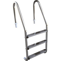 Escada Para Piscina - Aço Inox 304 - 3 Degraus Em Aço Inox