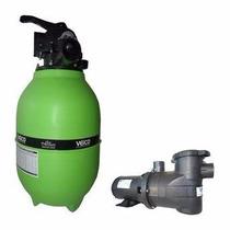 Filtro Piscina Veico V20 Bomba 1/4cv Motor Weg 21.000l Areia