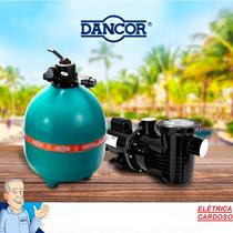 Filtro De Piscina Dancor Dfr-11 Com Motobomba De 1/4cv Monof
