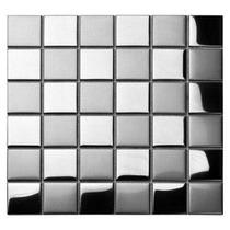 Pastilha De Inox Xadrez 5x5cm Escovado / Espelhado