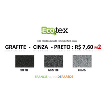 Carpete Forracao Preto Cinza Grafite Inylbra Etruria R$ 7,60