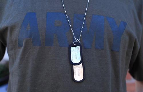 Placa De Identificação Dog Tags Plaquetas Kit Modelo Militar
