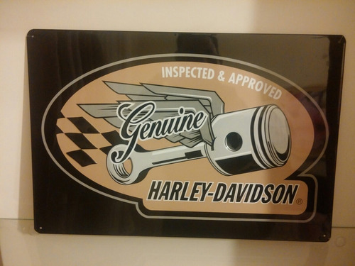 Placa Decorativa Harley Davidson