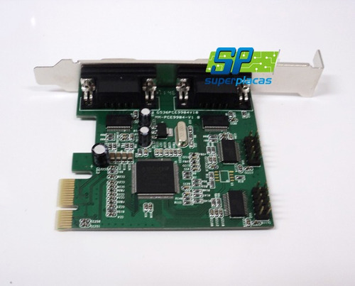 Placa Multiserial Pci-express 4 Serial - Chipset Moschip