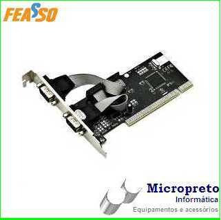 Placa Pci Com 2 Portas Serial Rs232 Db9