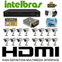 Kit Cftv Dvr 16 Intelbras+hd+16 Cameras Infra 700l/30m+fonte