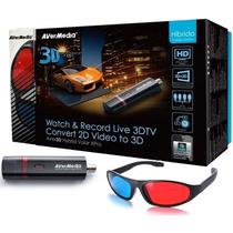Captura De Tv Digital Hd Usb Avermedia 3d Tv Ao Vivo