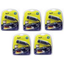 5 X Placa De Captura Video Usb Easycap Audio/video Notebook
