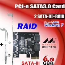 Placa Pci - E Raid Sata 3 Iii 6gb/s - Marvell 88se9128- Ssd