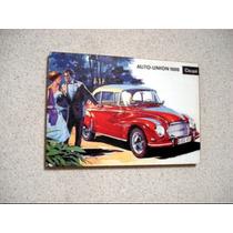 Placa Decorativa 29x19cm * Cartaz * Auto Union 1000 Dkw