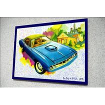 Placa Decorativa 29x19cm * Chrysler Plymouth Barracuda * Art